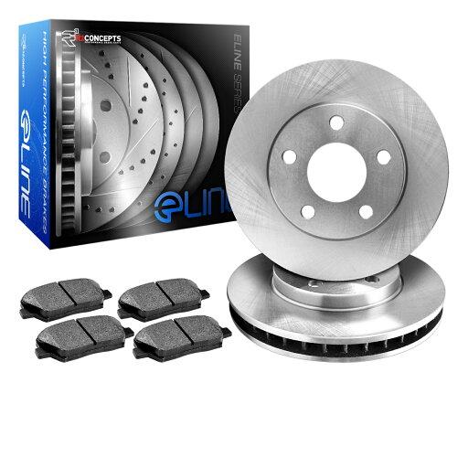 [REAR] eLine Replacement Brake Rotors & Semi-Met Brake Pads REB.6201902 0557f085b4d62de432d373a76ad3f535