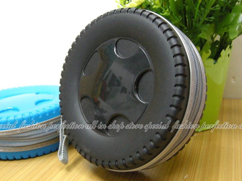 輪胎造型CD收納盒40片裝 CD包 cd收納包~不挑款【DN158】◎123便利屋◎