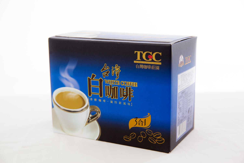 [古坑咖啡~TGC]台灣白咖啡三合一 10包/盒