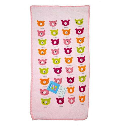 吸水物語 彩色印花快乾童巾(D6001) 26.5x50cm 隨機