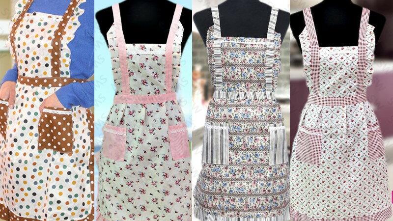 BD002 韓版印花圍裙 雙口袋圍裙 蕾絲圍裙 雙層內裡防水圍裙 工作圍裙 公主圍裙 日式圍裙 廚師圍裙 歐式侍女圍裙