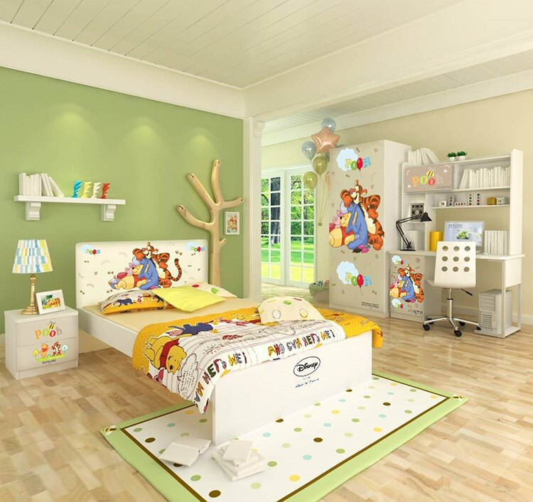 [首雅傢俬]MIT 迪士尼系列-維尼 5尺 雙人床架 兒童床架
