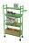【凱樂絲】居家辦公兩用DIY 四層收納推車(粉綠款-寬16 cm) 角落空間利用, 附輪胎及把手, 容易移動 5