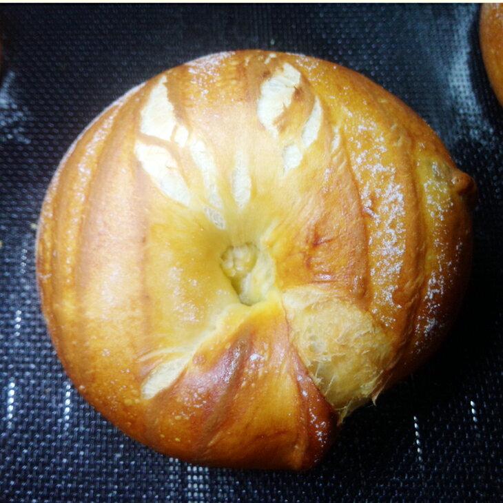 ~天然老麵酵母配方~歐式脆皮貝果 五入裝  ~ 76折 ~ 天然酵母配方, 歐式麵包手法製