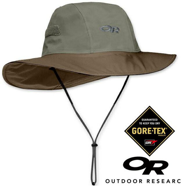 【【蘋果戶外】】Outdoor Research OR243505 807 GTX 大盤帽 卡其/棕 KHAKI/JAVA Gore-tex 圓盤帽子 100%防水 排汗 保暖防風 OR82130
