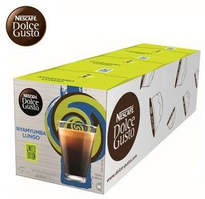 雀巢 新型膠囊咖啡機 美式濃黑咖啡 盧安達莊園限定版 ^(一條三盒入^) 料號 12305