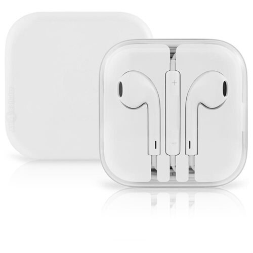 Apple EarPods with Remote and Mic - Stereo - White - Mini-phone - Wired - Earbud - Binaural - Outer-ear 1