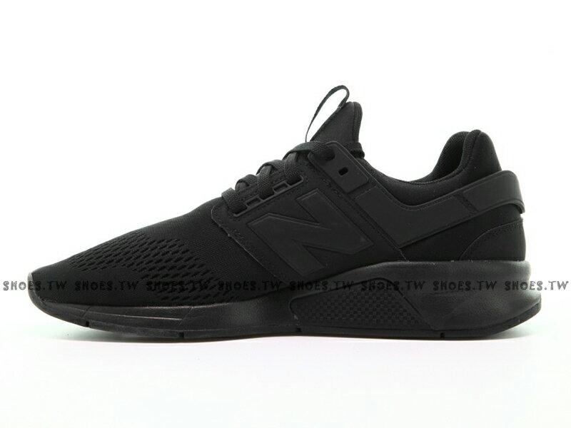 Shoestw【MS247EK】NEW BALANCE NB247 慢跑鞋 網布 襪套 全黑 男生尺寸 1