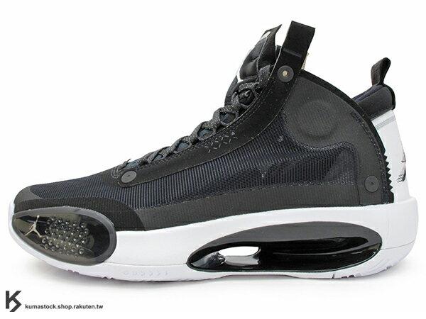 2019-2020 史上最輕 NIKE AIR JORDAN XXXIV 34 PF BLACK WHITE 黑白 新一代 ECLIPSE PLATE 避震科技傳導 前、後 ZOOM 籃球鞋 AJ 4 (BQ3381-001) 1119 0