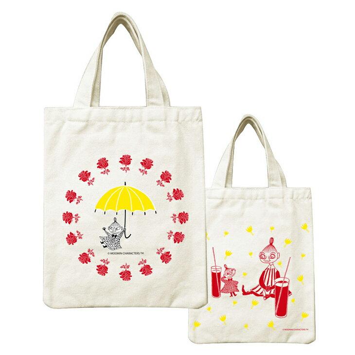 Moomin嚕嚕米正版授權 - 帆布包:【 美寶與小不點 】