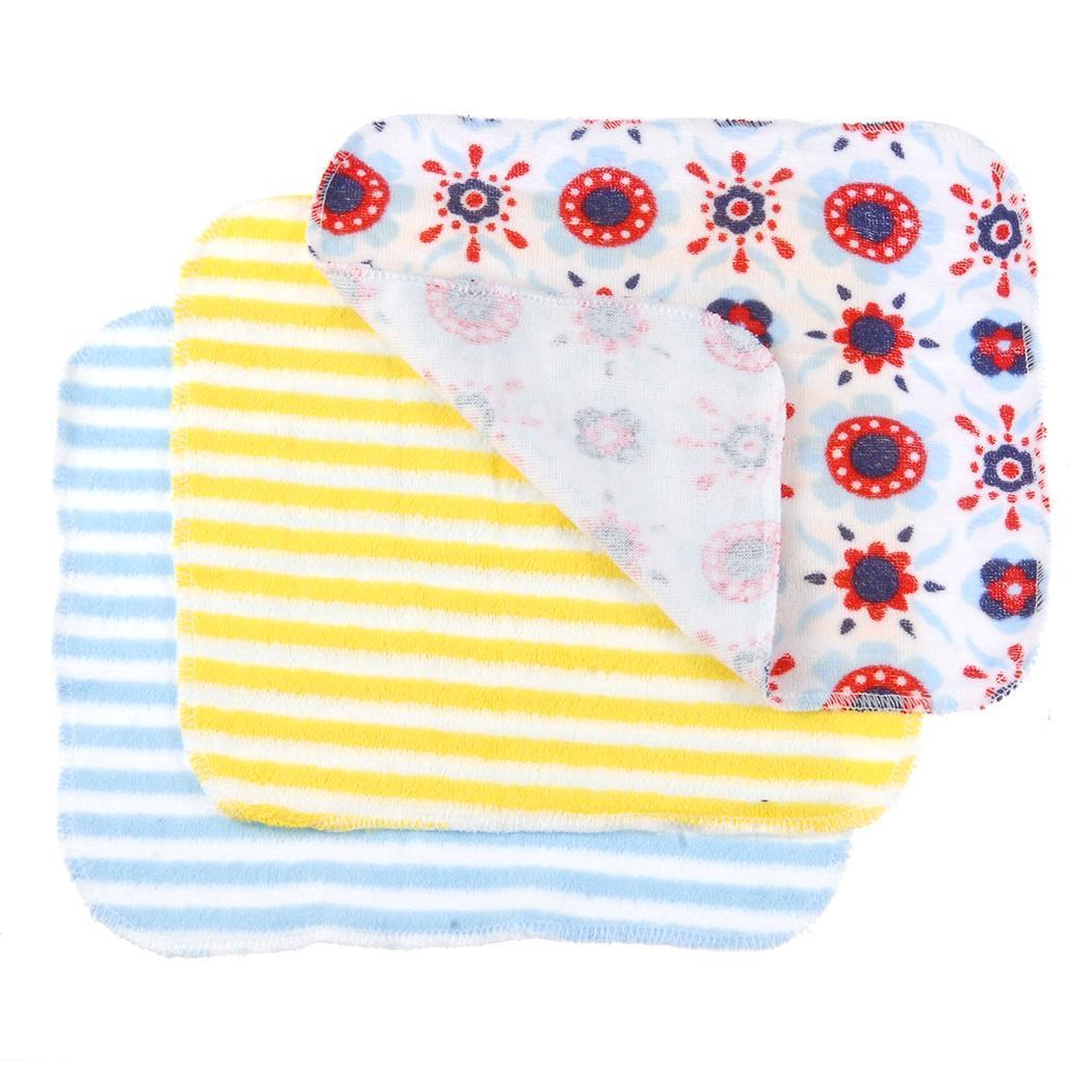 8PCS Baby Wash Handkerchief Multicolor Feeding Wipe Cloth Towel 2