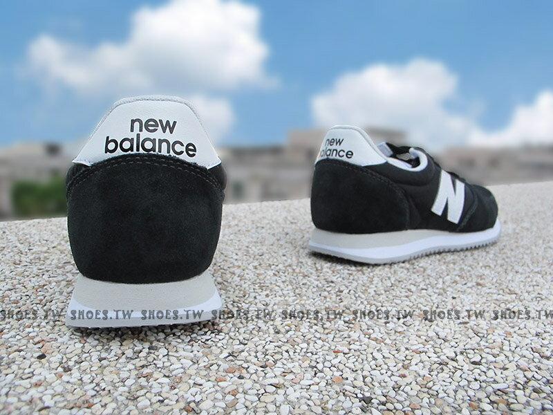 《下殺6折》Shoestw【U220BK】NEW BALANCE NB220 復古慢跑鞋 黑色 白N 麂皮 男女尺寸 2