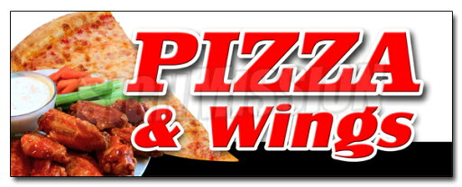 "48"" PIZZA & WINGS DECAL sticker brick oven new york chicago italian spicy"