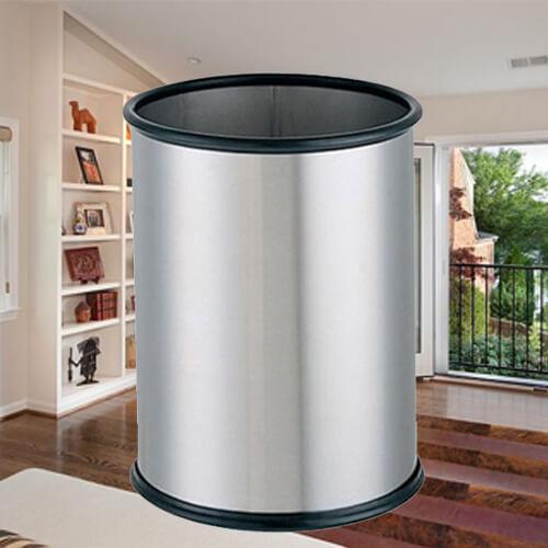 【企隆 圍欄 飯店用品】 煙灰 垃圾桶 置物 收納 回收 C08 不銹鋼垃圾桶
