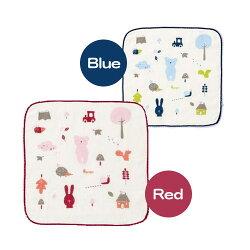 奇哥 紗布毛巾-方巾 (紅/藍)【悅兒園婦幼生活館】