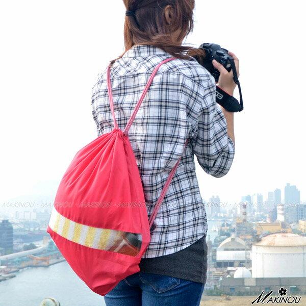 旅行袋|日系簡約時尚旅行束口袋背包|日本牧野 收納包 鞋袋 包中包 旅行李箱 MAKINO