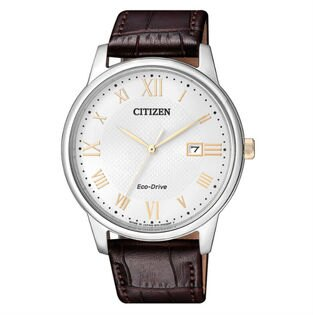 CITIZEN星辰錶BM6974-19A羅馬簡約光動能腕錶白面42mm
