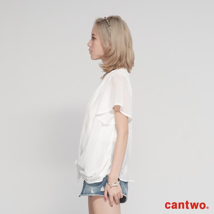 cantwo雪紡蕾絲假兩件上衣(共二色) 2