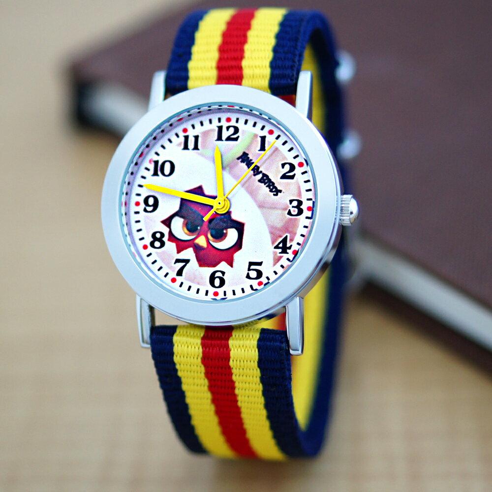 Angry Birds 憤怒鳥正版授權帆布錶帶石英錶 0