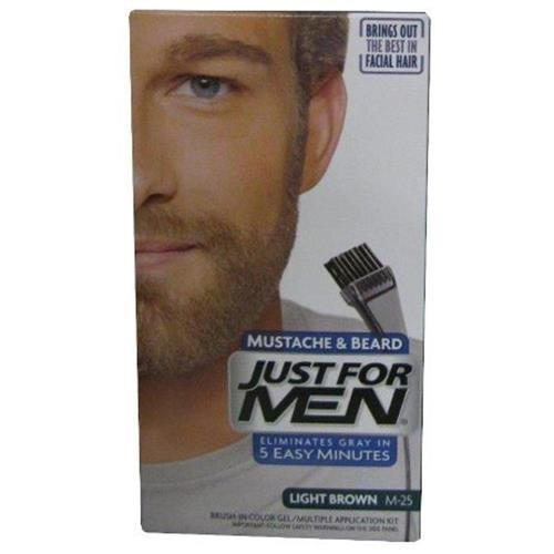 Just For Men Brush-In Color Mustache & Beard M-55 Light Brown 997f4a143d38a645f84b0d182f6ffa59