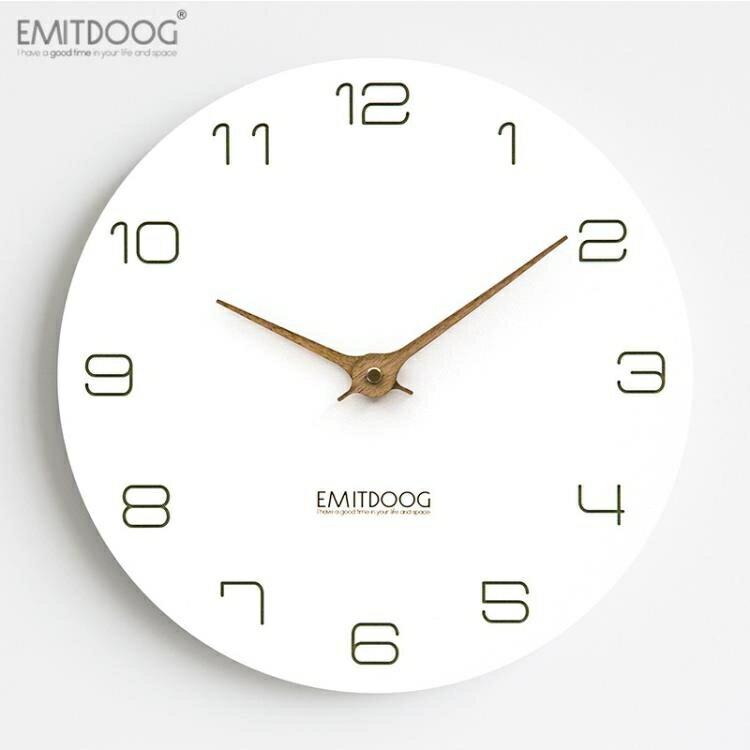鐘錶客廳家用玄關掛鐘現代簡約時尚潮流臥室靜音掛錶 概念3C