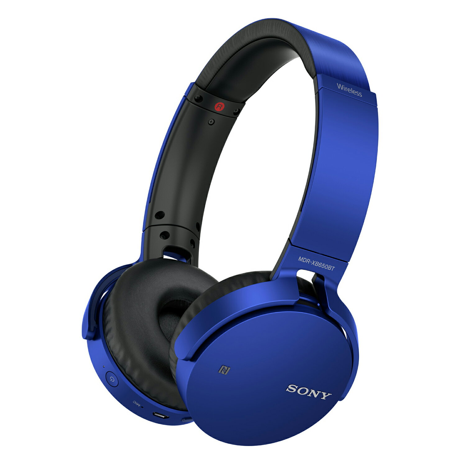 Sony Bluetooth Wireless NFC Over-Ear Headphones Extra Bass MDR-XB650BT - Blue 0