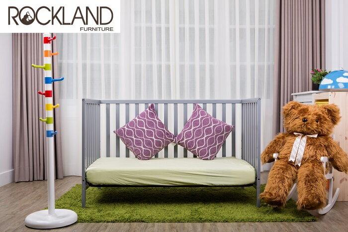 【送床包】【Rockland】喬依思4合1嬰兒床(附贈床墊+床側護欄)-4色 2