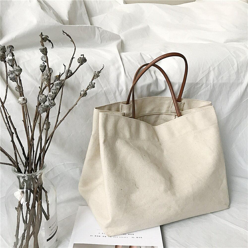 ✤宜家✤時尚可愛簡約百搭時尚手提帶2 肩背包 購物袋