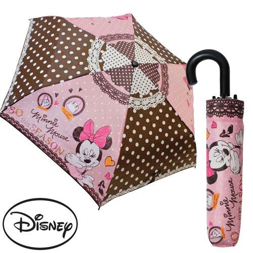 sightme看過來購物城:【日本進口正版】迪士尼米妮Minnie輕量型晴雨傘折疊傘附傘套米老鼠-042236