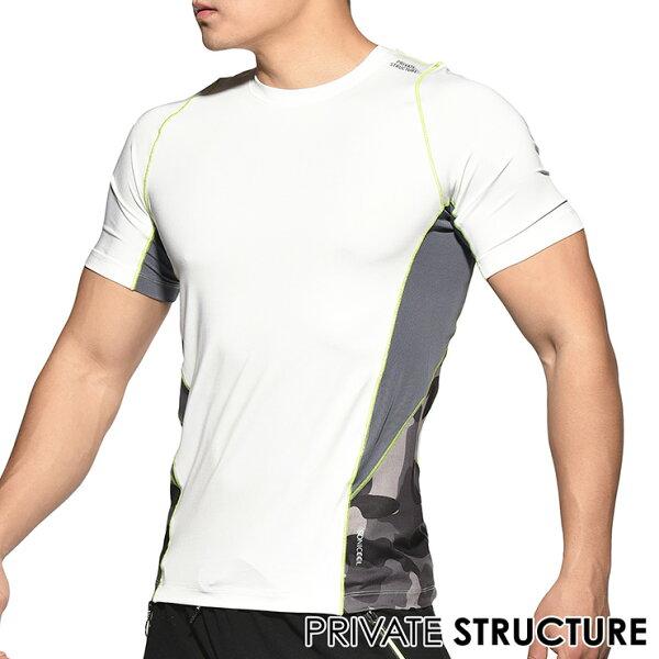 IF時尚購物:★新品上市★P.S摩登系列-專業運動機能型男訓練短袖上衣T恤(白色),PMGMT3467W1,PrivateStructure