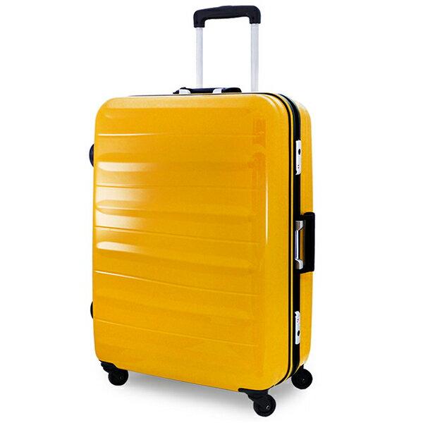 【加賀皮件】CROWN皇冠27吋亮面橫條紋超輕量四輪鋁框行李箱旅行箱CF2635