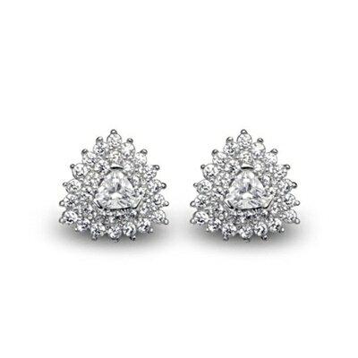 ~925純銀耳環鑲鑽耳飾~簡約 大方 母親節生日情人節 女飾品73dm152~ ~~米蘭