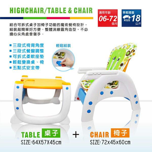 『121婦嬰用品館』PUKU Magic高腳餐椅 3