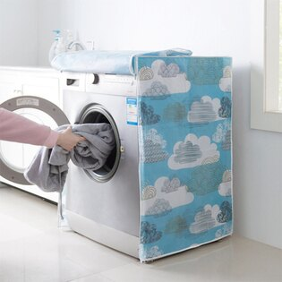 Mycolor:♚MYCOLOR♚印花洗衣機防塵罩(前開式)防塵櫃子防潮收納居家整理蓋布【N218】