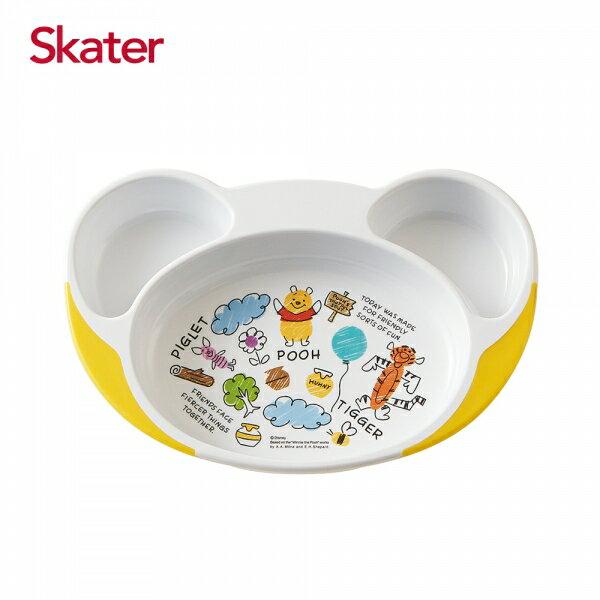 【SKATER】兒童餐具 離乳多隔餐盤 米奇/維尼