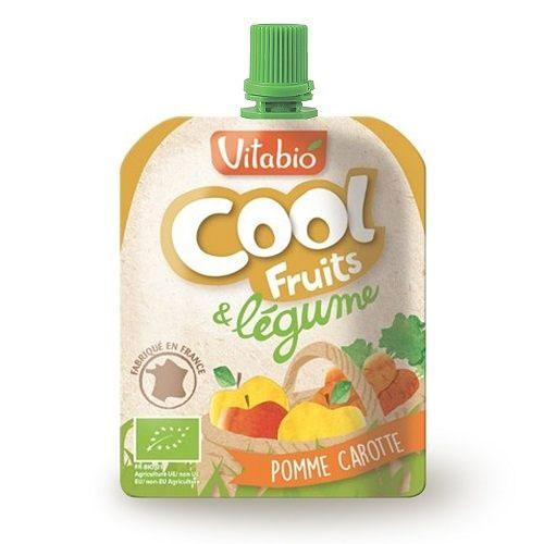 法國倍優Vitabio12M+有機優鮮果昔-蘋果、胡蘿蔔90g有機水果泥隨身包即食包