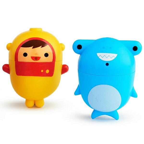 美國 munchkin 噴水洗澡玩具2入(可拆洗)-潛水員鯊魚【悅兒園婦幼生活館】【618購物節】