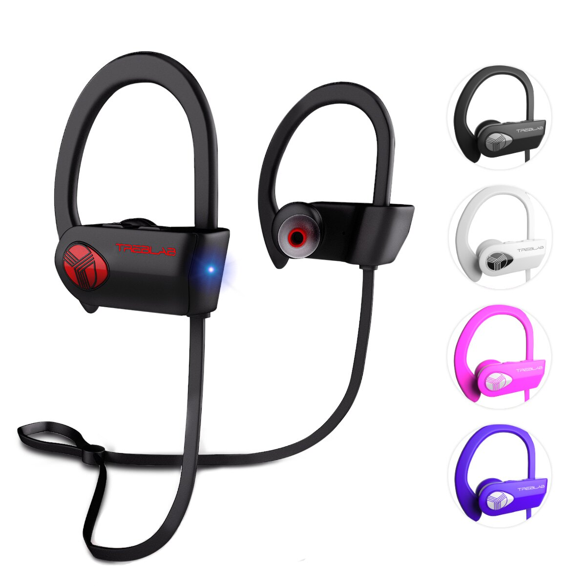 1b03698320c TREBLAB XR500 Bluetooth Headphones, Best Wireless Earbuds For Sports,  Running, Gym Workout.