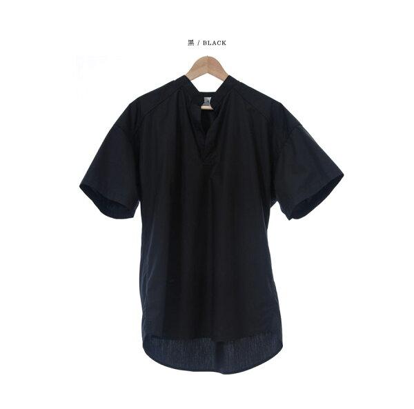 韓國製短袖襯衫V領無扣【ST20211】-SAMPLE