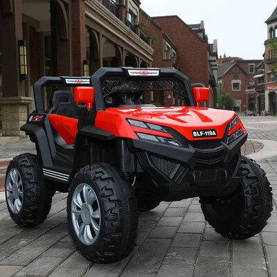 四輪遙控汽車 兒童電動車四輪可坐人遙控汽車寶寶小孩超大號雙人玩具四驅越野車『XY1550』