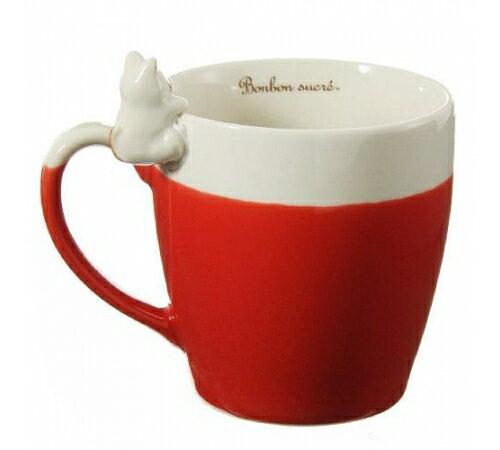【預購】日本製療癒系- 小貓偷喵馬克杯 紅色 1