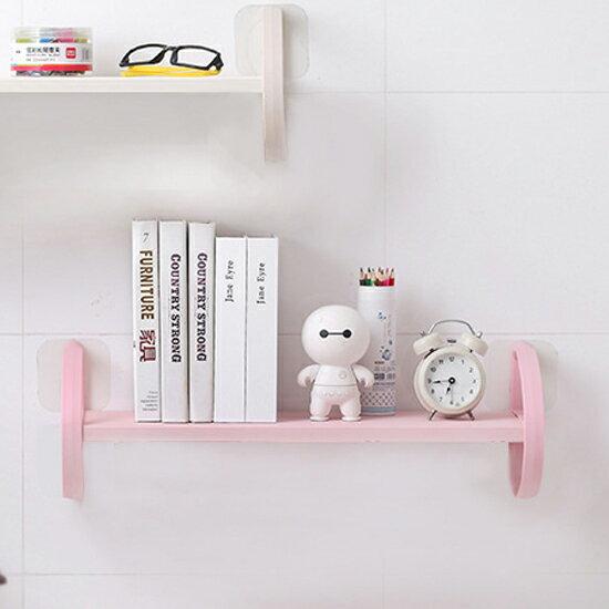 ●MY COLOR●免打孔無痕吸盤置物架 雜亂物 浴室 廚房 收納  簡約 日式 書架【Z93】