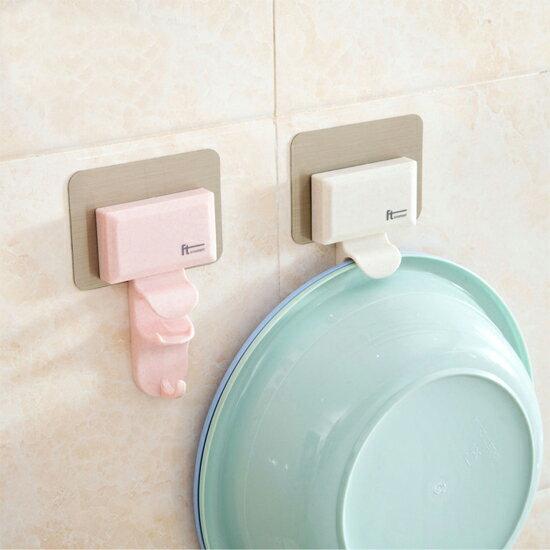 Mycolor:♚MYCOLOR♚強力無痕耐重掛勾廚房浴室陽台門後櫃子無痕掛架臉盆衣架衣勾【N206】