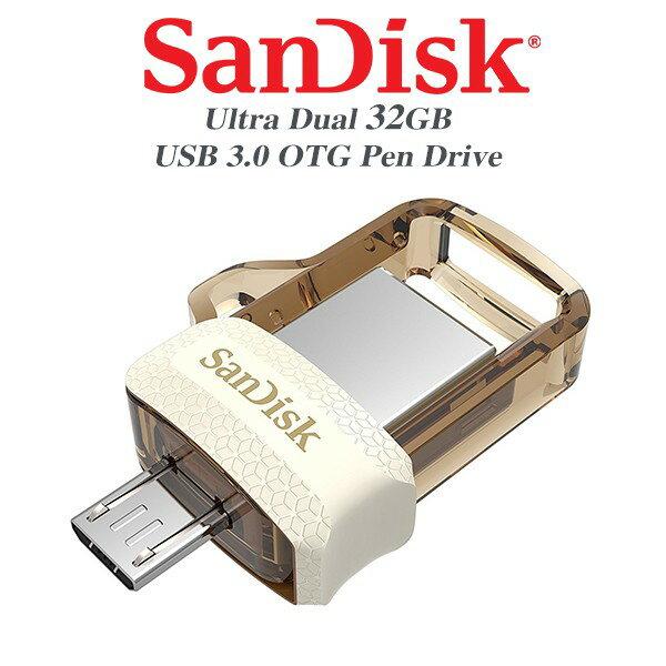 限定版 SANDISK Ultra OTG m3.0 琥珀色 USB 3.0 32G 64G 雙用隨身碟