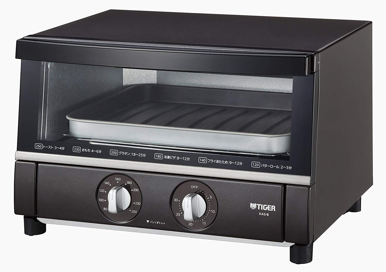 日本公司貨  TIGER 虎牌 烤箱 雙鈕旋轉 烤麵包機 KAS-B130 小烤箱 25cm小披薩 日本必買代購