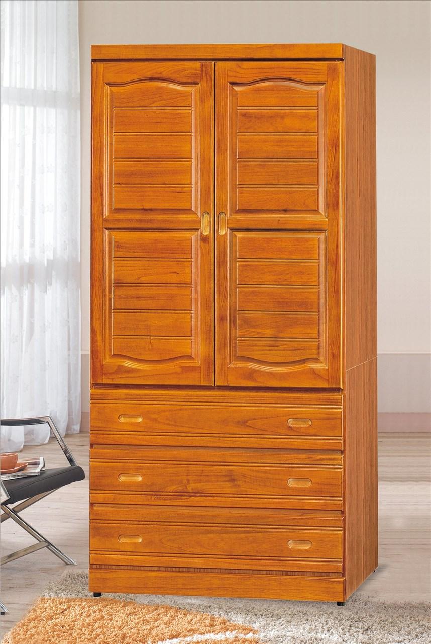 【石川家居】EF-127-5 富丞樟木色3*7尺衣櫃 (不含其他商品) 需搭配車趟