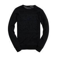 Superdry極度乾燥-男T恤推薦到美國百分百【全新真品】Superdry 極度乾燥 T恤 T-shirt 大學T 長袖 鋪棉 浮雕logo 黑色S L號 I756就在美國百分百推薦Superdry極度乾燥-男T恤