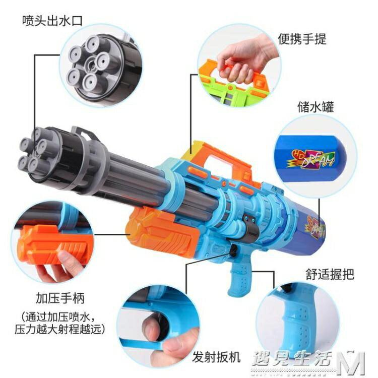 兒童呲水槍玩具噴水槍戲水抽拉式成人打水仗神器超大號男孩大容量   七色堇 元旦 交換禮物