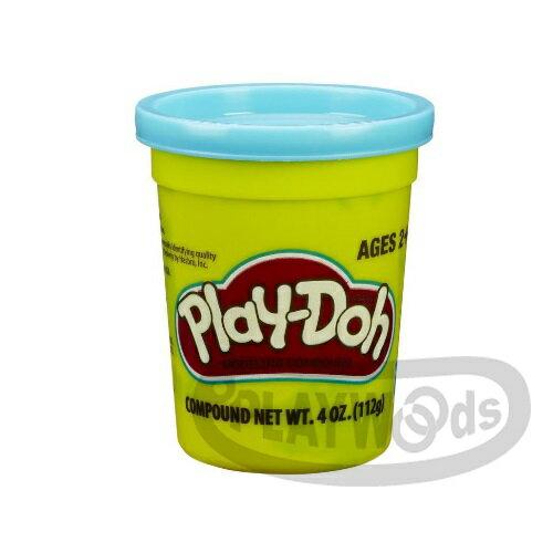 【Playwoods】[PLAYDOH][孩之寶-培樂多黏土]原料 繽粉色罐 4盎司單罐 土耳其藍(DIY/安全無毒/Hasbro)