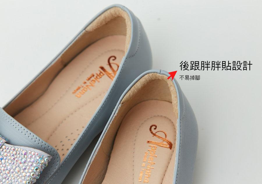 韓風燙鑽大蝴蝶結全真皮紳士鞋【QC151191480】AppleNana蘋果奈奈 5